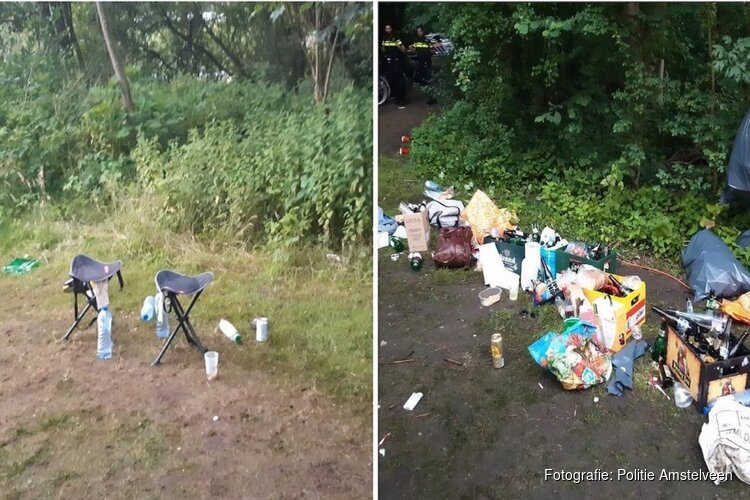 Illegaal feest in Amsterdamse Bos beëindigd