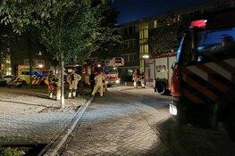 Brand in trappenhuis appartementencomplex Amsterdam Noord