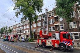 Brand bij woning Hoofdweg Amsterdam