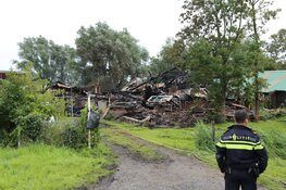 Lichaam aangetroffen na grote brand