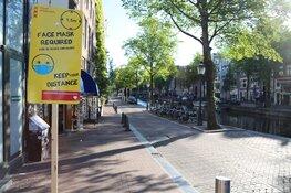 Sneller een boete vanwege niet dragen van mondkapje in 5 drukke gebieden Amsterdam