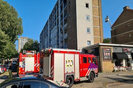 Grote brand in appartement in Amsterdam Nieuw-West