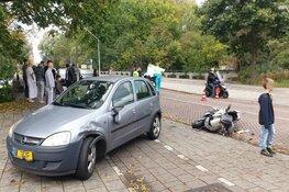 Ongeval met auto en scooter in Noord