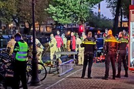 Persoon te water geraakt in Amsterdam