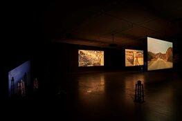 Live optredens van kunstenaars en augmented reality bij Trembling Landscapes