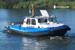 Eerste hybrideboot 'Werkboot Geer' uniek stuk op internationale bootveiling