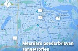 Meerdere poederbrieven aangetroffen in Amsterdam