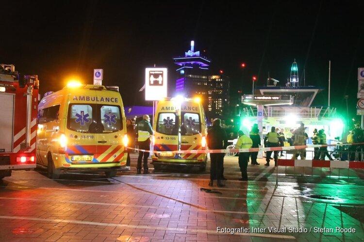 Vier gewonden bij aanvaring op het IJ