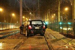 Automobilist op trambaan aangehouden