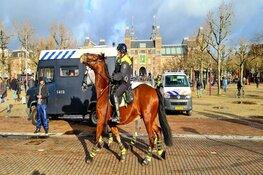 Spontane demonstratie op het Museumplein wordt afgebroken
